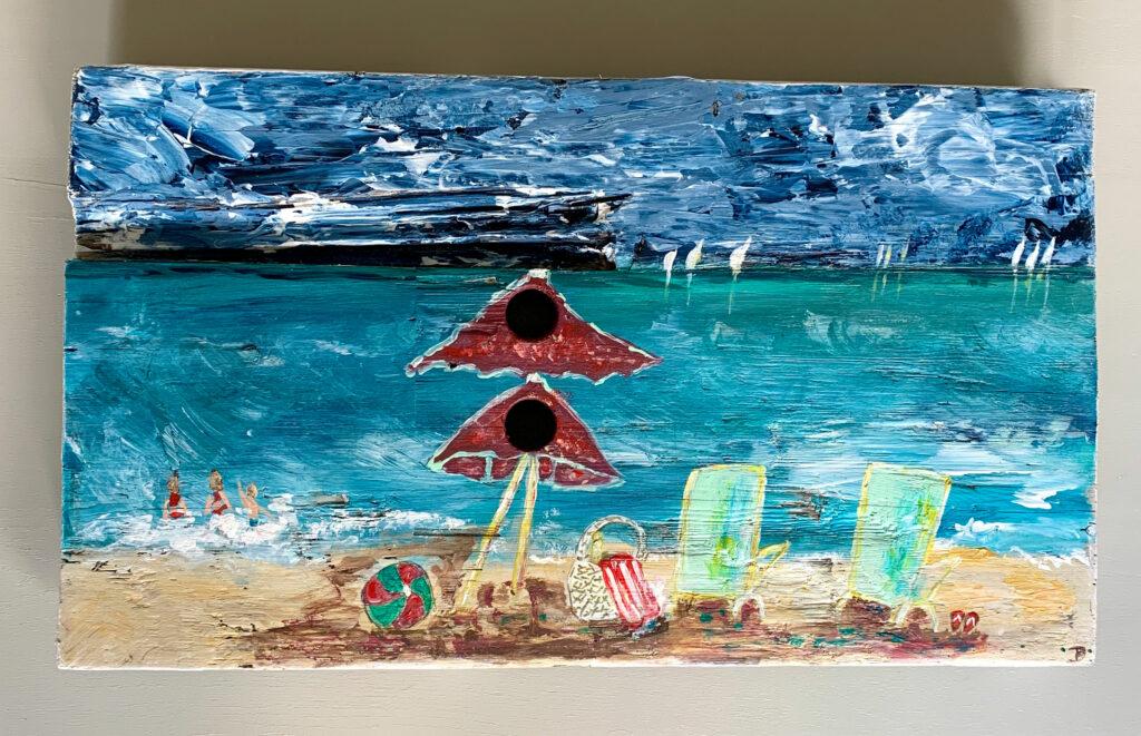 Strandtag, auf Holz